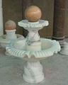 中國噴泉風水球石雕雕塑