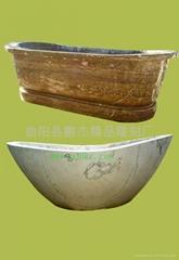 杭州大理石石雕浴缸