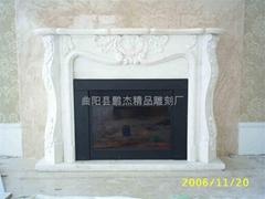 大理石欧式石材雕塑壁炉架