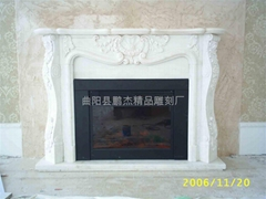 大理石歐式石材雕塑壁爐架