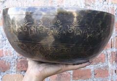 Tibetan Handmade Carving singing bowl (HC004)