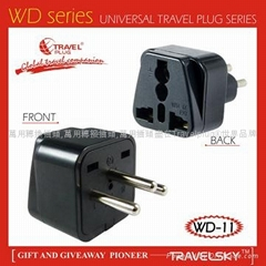 2013 Hot Selling Swiss Adapter Plug with Surge Protector (WAS-11)