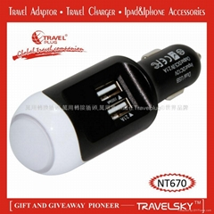 2013 Graceful USB Universal Travel Adaptor with Compact Design For Gift Items