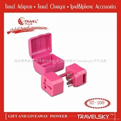 2013 Nice Interchangeable Plug AC Adapter With High Quality for Travelling NT100