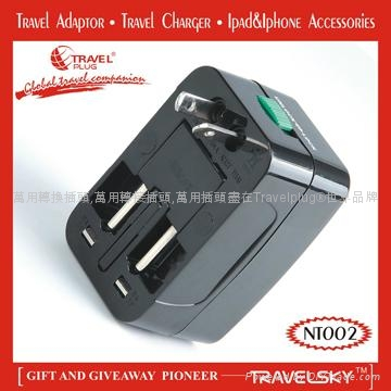 2013 Unique Universal Adapter Plug with Compact Design For Custom Gifts 3