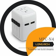 Longrich Cool Design Universal Worldwide Travel adapter MPC-N4