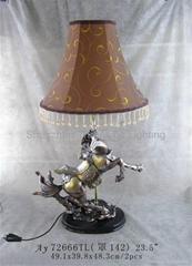 奔马造型树脂台灯