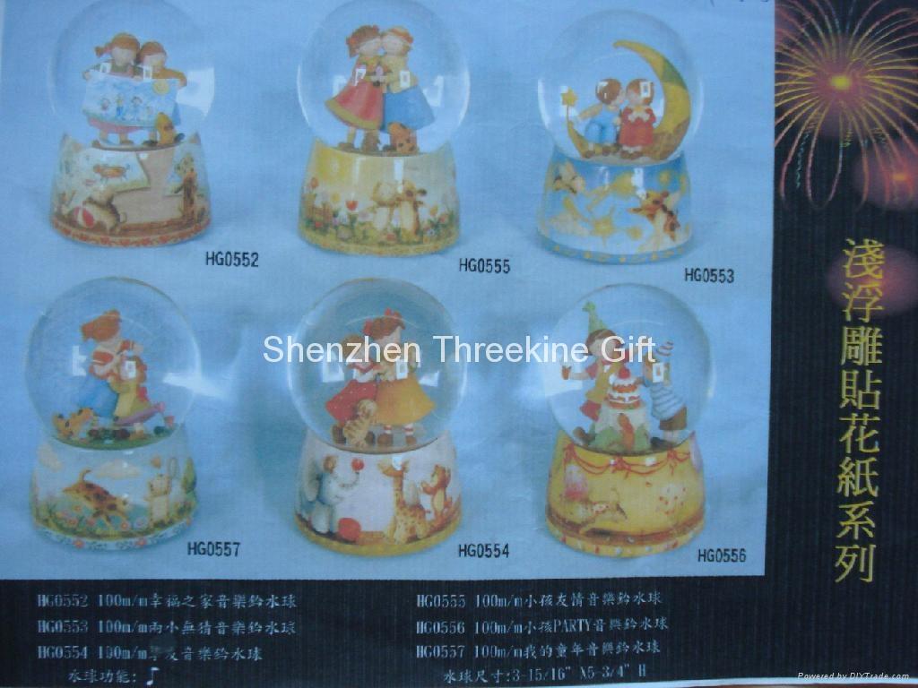 100MMPOLY/陶瓷底座精品水球 5