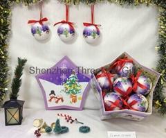 75MM POLYFOAM BALL W/ SHINY FINISH in a tree shaped box (12pcs/SET)