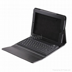 Newest   Leather Case Holder with Keyboard  For ipad
