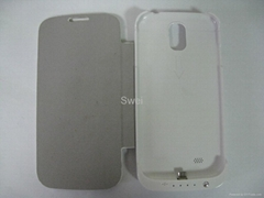 3200mAh Power Bank With Flip Cover Case For Samsung Galaxy S4