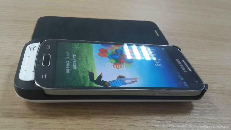 timeless design b0270 c8577 External 2600mAh Power Jacket Charger Case For Samsung Galaxy S4 Mini