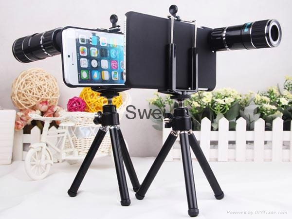 "12X Zoom Telephoto Lens With Back Case And Mini Tripod For iPhone6 (4.7"") 4"