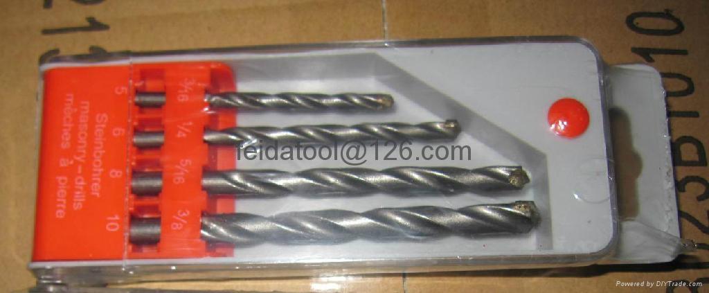 4 pcs masonry drill bit 1