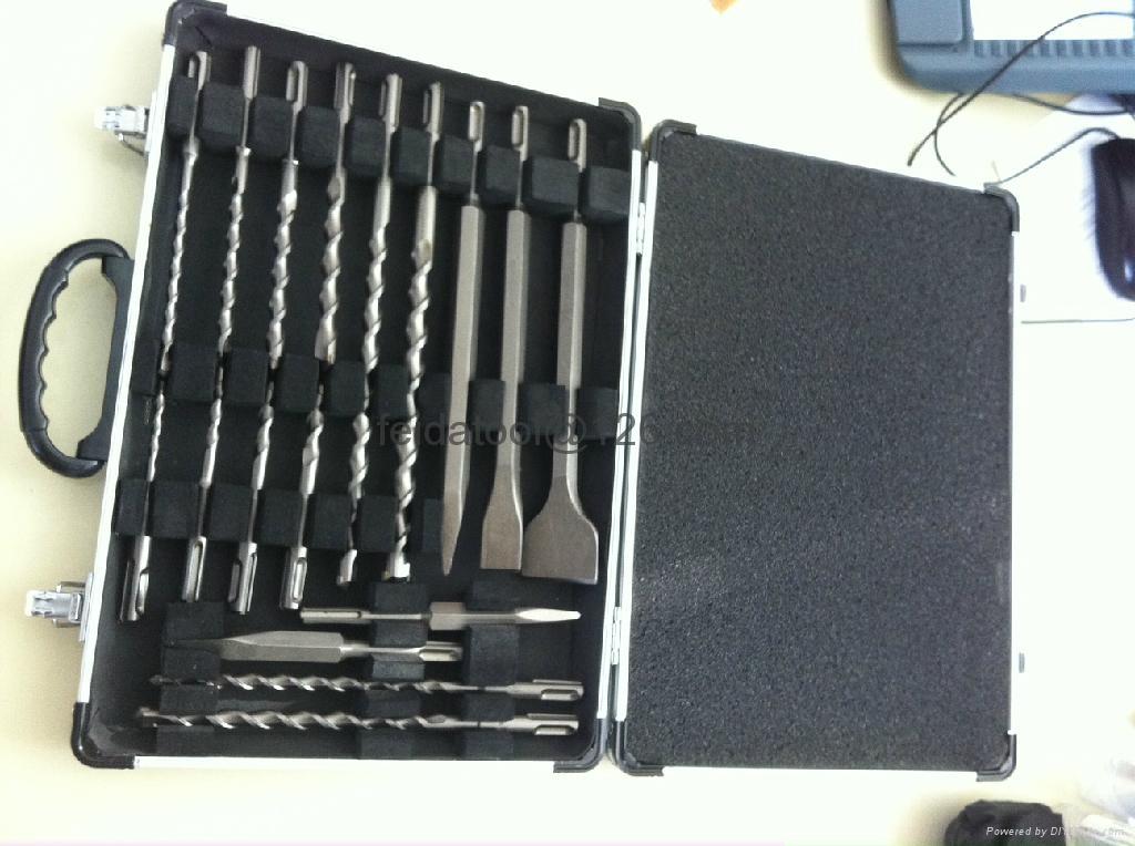 17 pcs SDS plus drills & Chisels Set