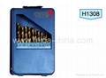 13 pcs HSS drill set in Metal box 1