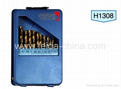 13 pcs HSS drill set in Metal box