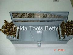 115 PCS HSS Twist Drill , Titanium Coated