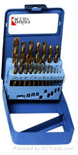 19pcs HSS Twist Drill Set in Metal Box