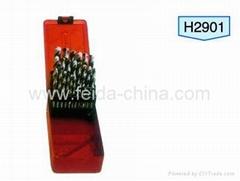 29pcs HSS Twist Drill Set in Metal Box