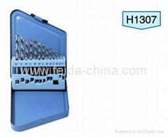 13 pcs HSS twist drills In metal box