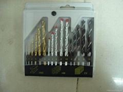16 pcs combination drill set