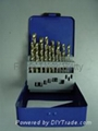 HSS drill bit set,19 pcs with 5% cobalt