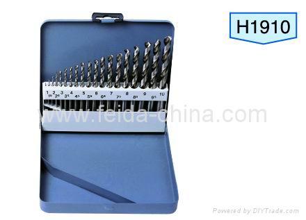 HSS twist drill bit set in Metal box, 19 pcs 1