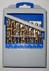 21 PCS HSS TWIST DRILLS, TITANIUM COATED