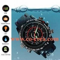 8GB High Definition Waterproof Spy Watch