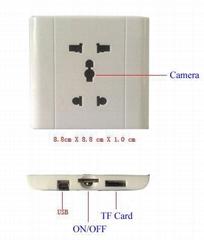 4GB Voice control plug high clear pinhole camera(1800-02)