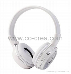 MP3 FM Headphone with SD Card Slot,LCD