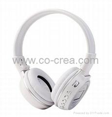 MP3 FM Headphone with SD Card Slot,LCD Sreen(Sliver,Black)