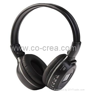 MP3 FM Headphone with SD Card Slot,LCD Sreen(Sliver,Black ...