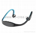 New Neckband Stereo Wireless Bluetooth Headset Headphone for Mobile Phone(red)