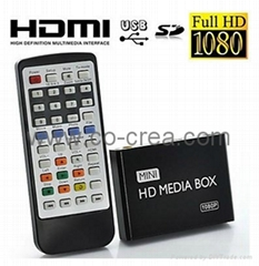 1080P Full HD Mini Multi-Media Player for TV, Supporting USB, SD Card