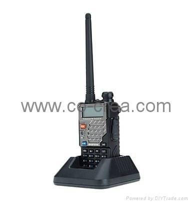 New Version (VHF136-174Mhz UHF 400-480Mhz)VHF/ UHF Dual-Band Two Way Radio 4