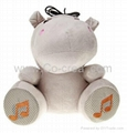 Cute Hippo Style USB Speaker with Remote