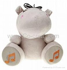 Cute Hippo Style USB Sp