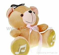 Cute Bear Style USB Speaker with Remote Control