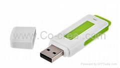 2 in 1 USB Flash Drive Surveillance Audio voice Recorder 8GB 96 Hours Long time