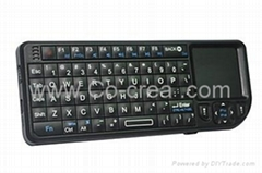 3-in-1 Rii Mini Wireless Handheld Keyboard with Built-in Touchpad Laser Pointer