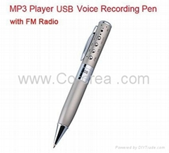 4GB MP3 Player USB Voice
