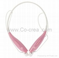 Bluetooth Headset with Flexible Neck Strap for Cell Phone(Pink)