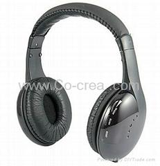 5 in 1 HIFI Wireless Headphone Earphone Headset(Wireless Monitor FM radio for MP