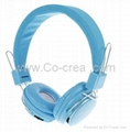 MP3 FM Digital Wireless On-Ear Headphone with TF Card Slot 8808 (Blue,White,Pink