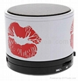 Lip Print Mini Bluetooth Speaker with TF Port for Phone/Laptop/Tablet PC 1