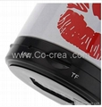 Lip Print Mini Bluetooth Speaker with TF Port for Phone/Laptop/Tablet PC 4