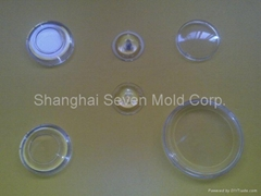 transparent injection molding lens and cover