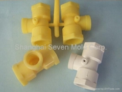 Injection molded plastic hard PVC pipe fitting